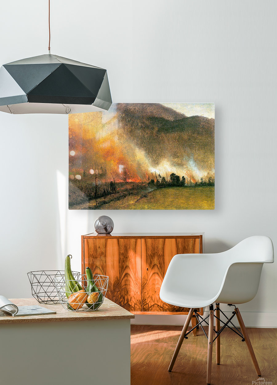 White Mountains, New hampshire 1 by Bierstadt  HD Metal print with Floating Frame on Back