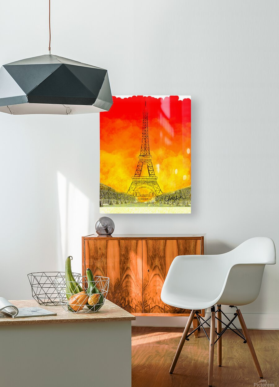 Eiffel Tower. Clayton T  HD Metal print with Floating Frame on Back