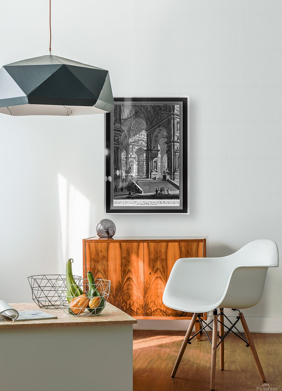 Large Sculpture Gallery Built On Arches by Giovanni Battista Piranesi Classical Fine Art Xzendor7 Old Masters Reproductions  HD Metal print with Floating Frame on Back