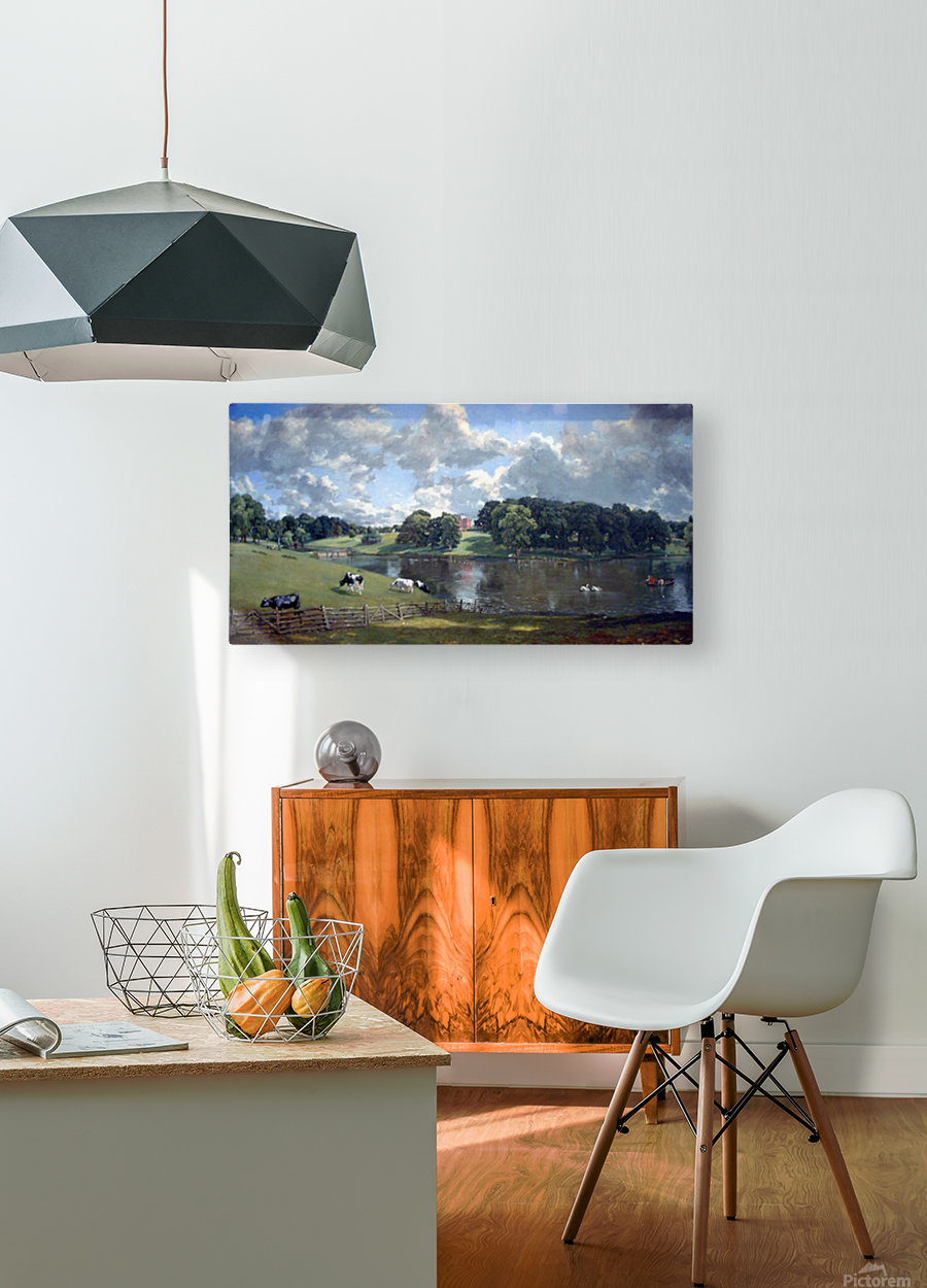 Wivenhoe Park by Constable  HD Metal print with Floating Frame on Back