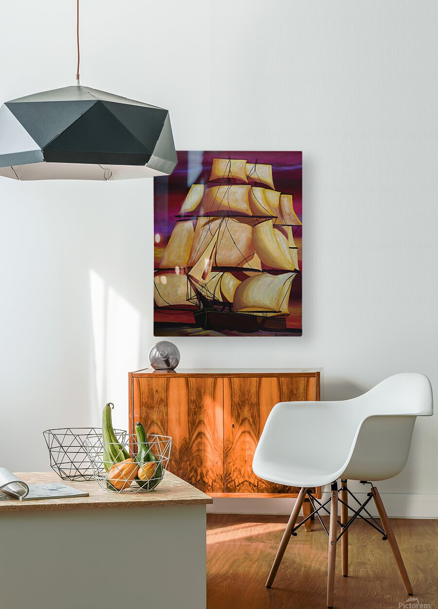 Calypso  HD Metal print with Floating Frame on Back