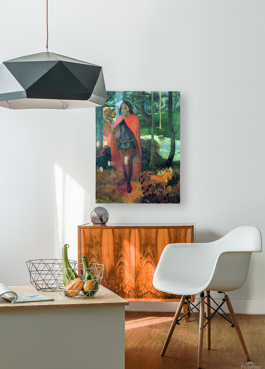 Wizard of Hiva-Oa by Gauguin  HD Metal print with Floating Frame on Back