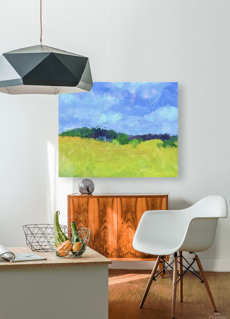 Parkton Landscape in Spring Green  HD Metal print with Floating Frame on Back