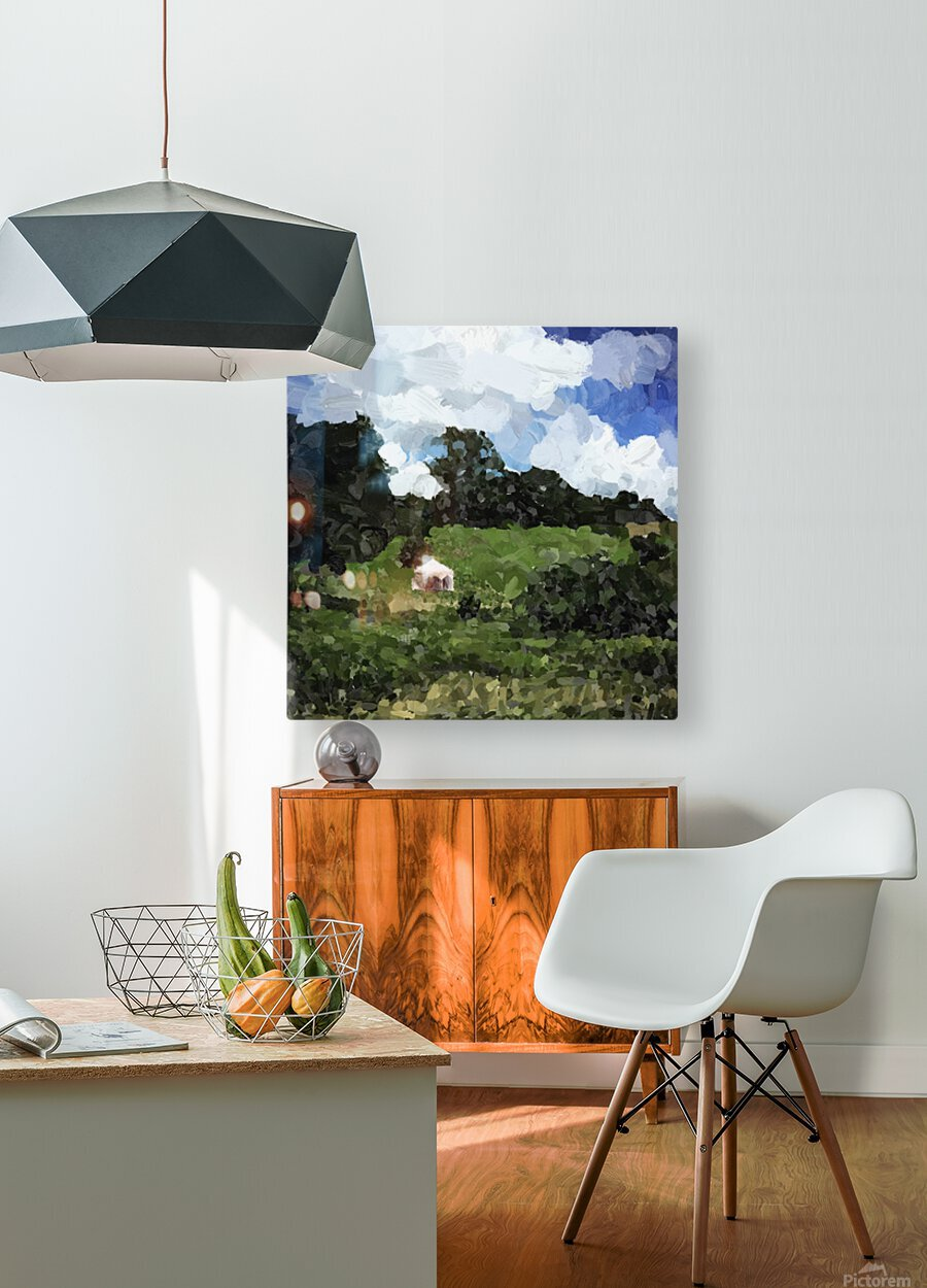 Garden Folly at Winterthur  HD Metal print with Floating Frame on Back
