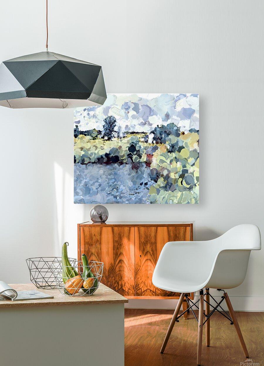 Winterthur Landscape  HD Metal print with Floating Frame on Back