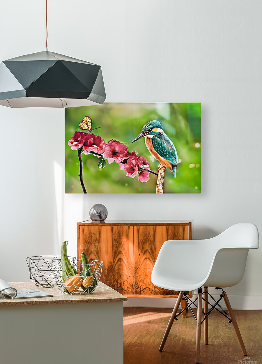 A Spring Friendship  HD Metal print with Floating Frame on Back