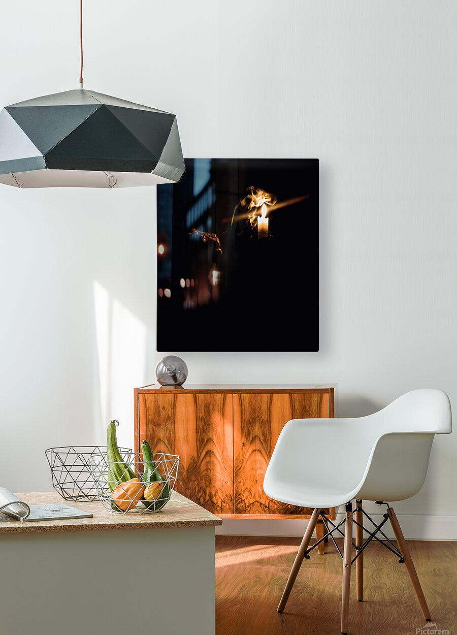 A Light in the Darkness  HD Metal print with Floating Frame on Back