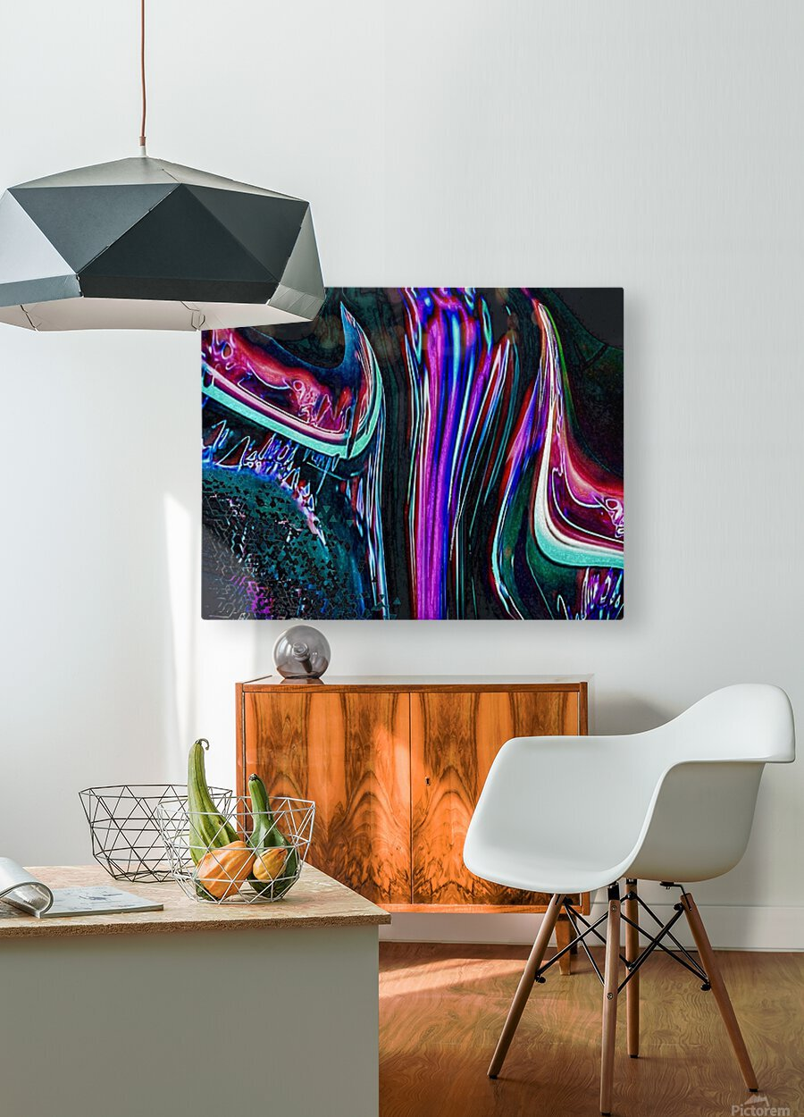 Colorful Distortions  HD Metal print with Floating Frame on Back