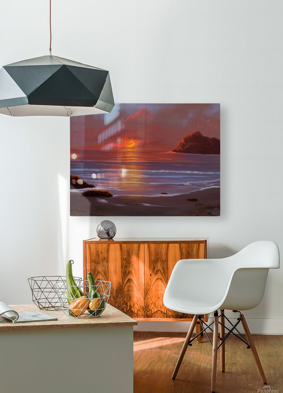 Blazing Skies  HD Metal print with Floating Frame on Back
