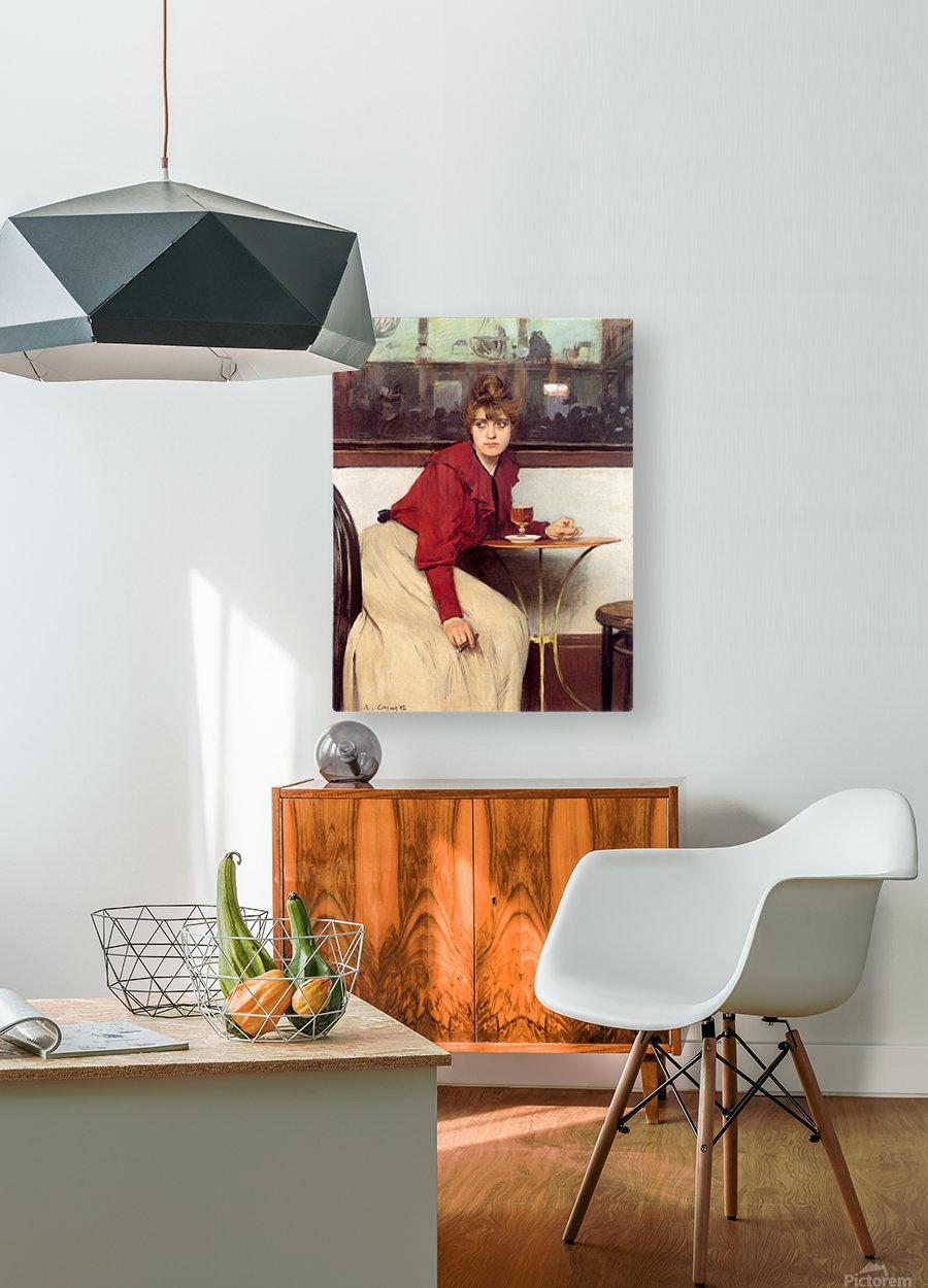Au Moulin de la Galette  HD Metal print with Floating Frame on Back