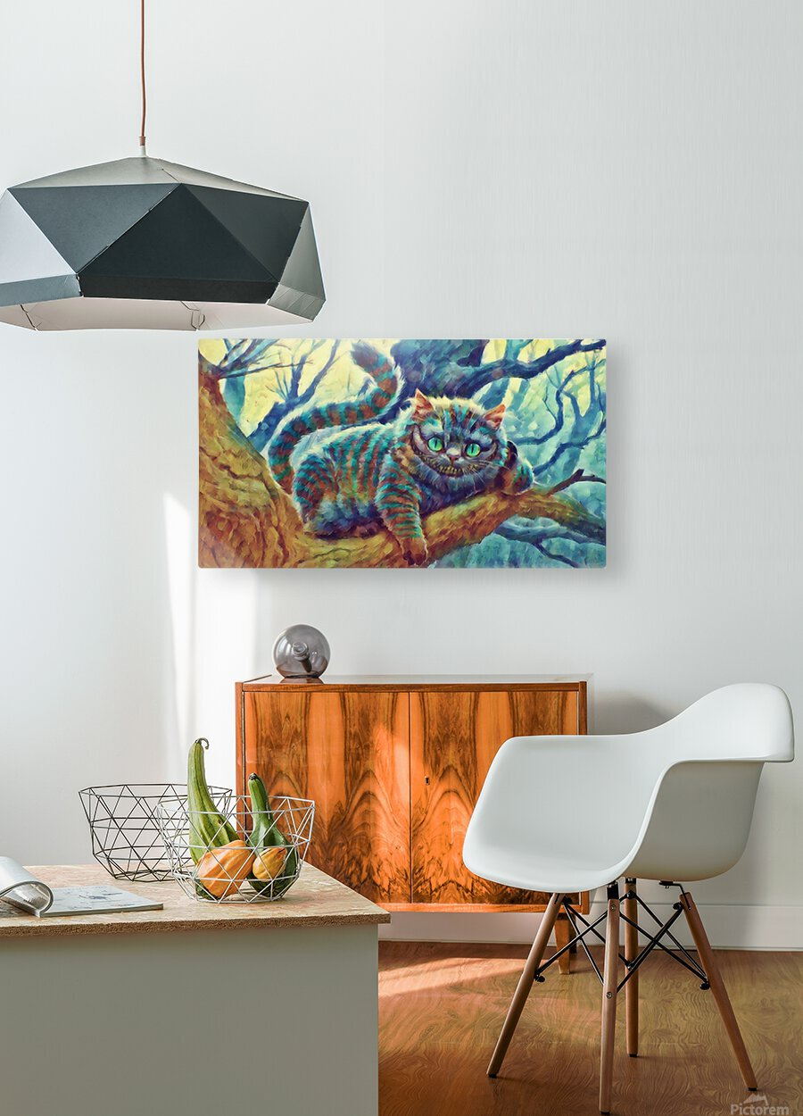 Cheshire Cat   HD Metal print with Floating Frame on Back