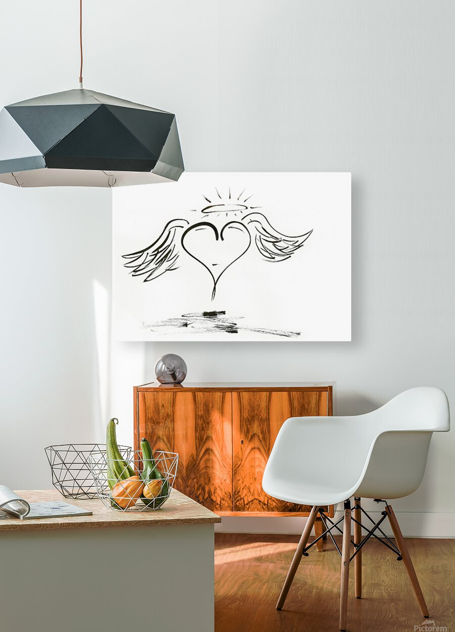 2020 heart angel  HD Metal print with Floating Frame on Back