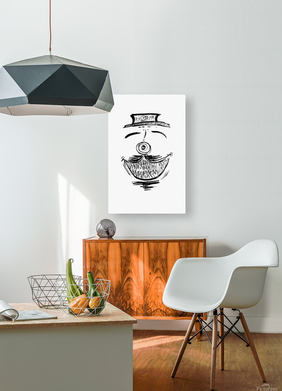 2021 happy dish  HD Metal print with Floating Frame on Back