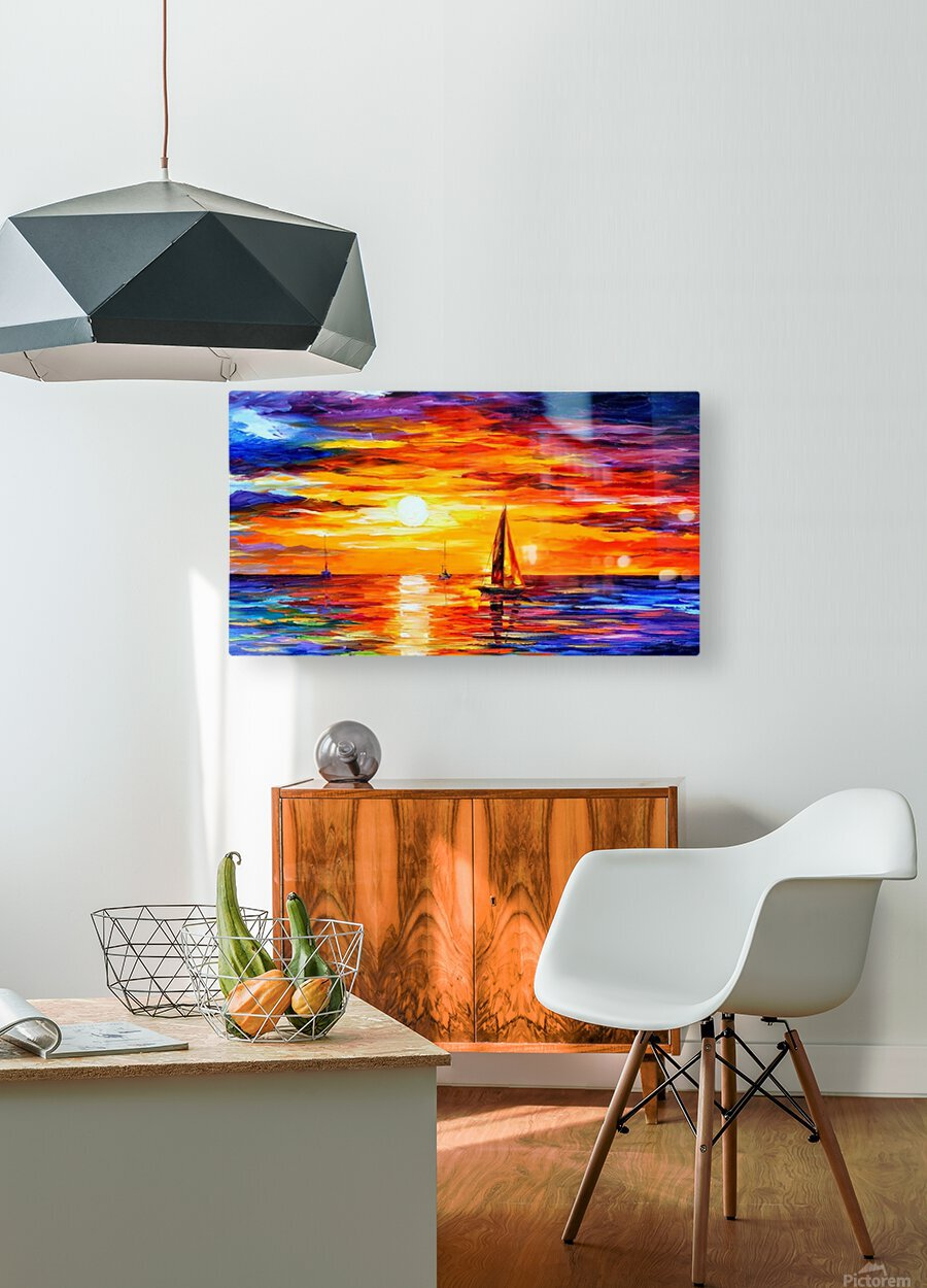 Open Water  HD Metal print with Floating Frame on Back