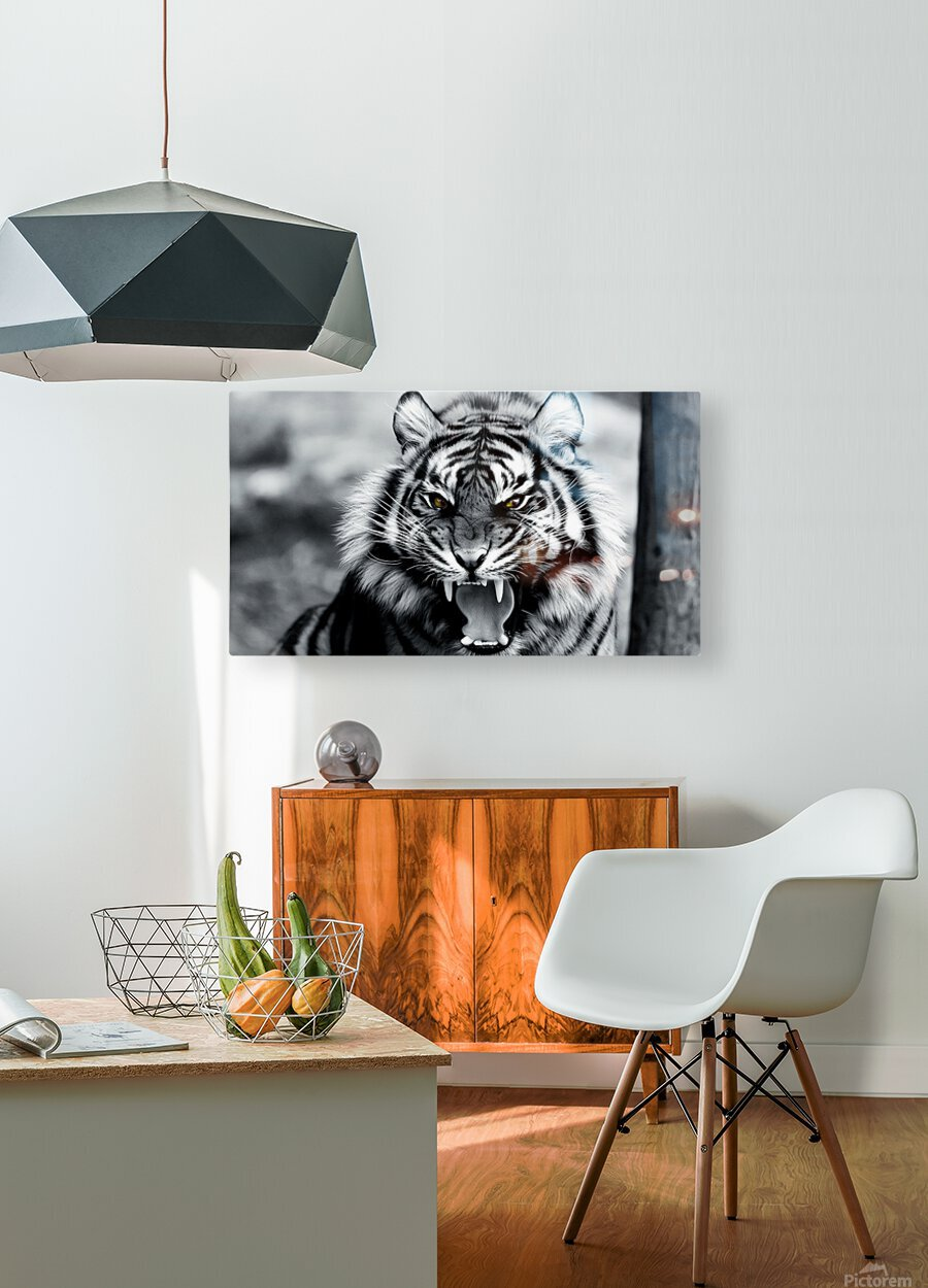 Fierce   HD Metal print with Floating Frame on Back