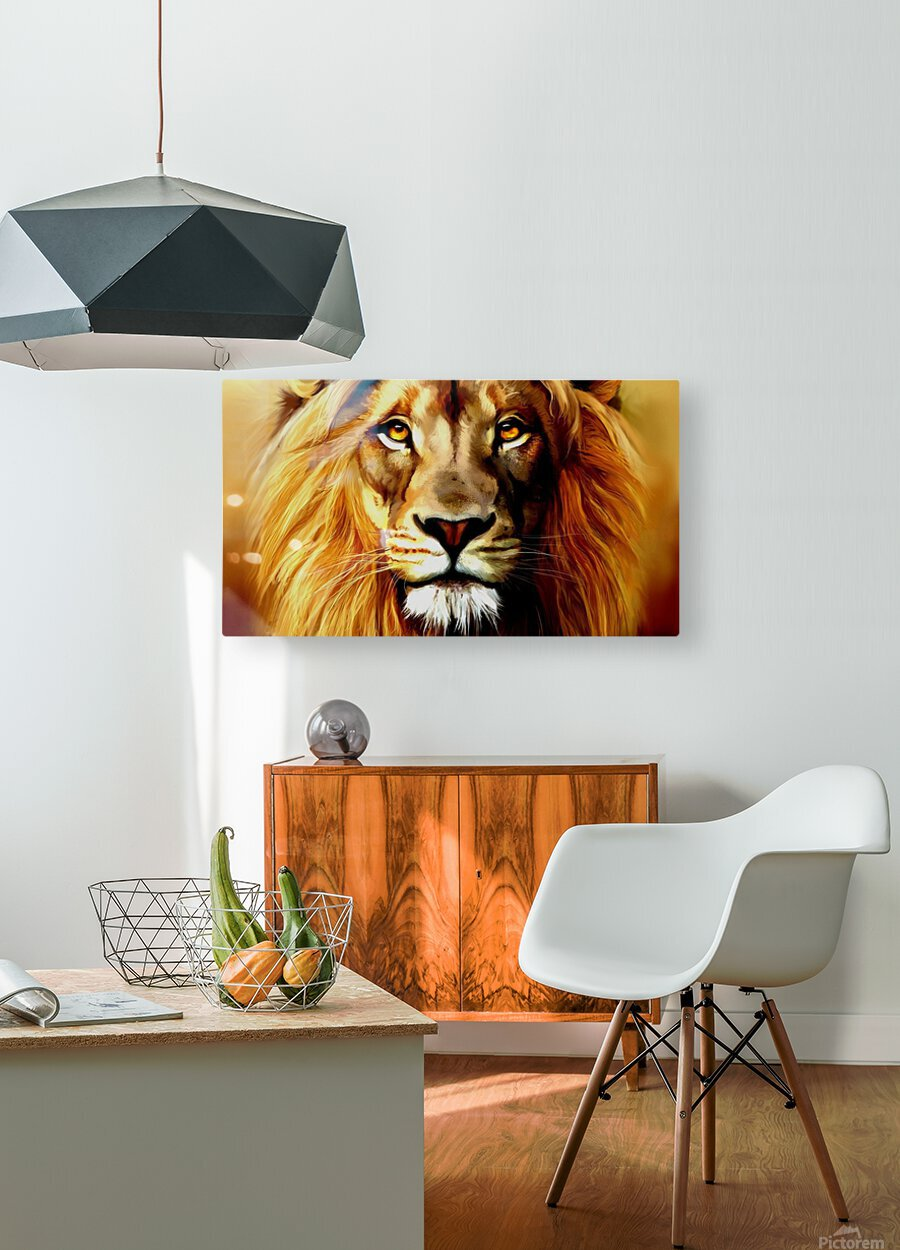 Majestic Beast   HD Metal print with Floating Frame on Back