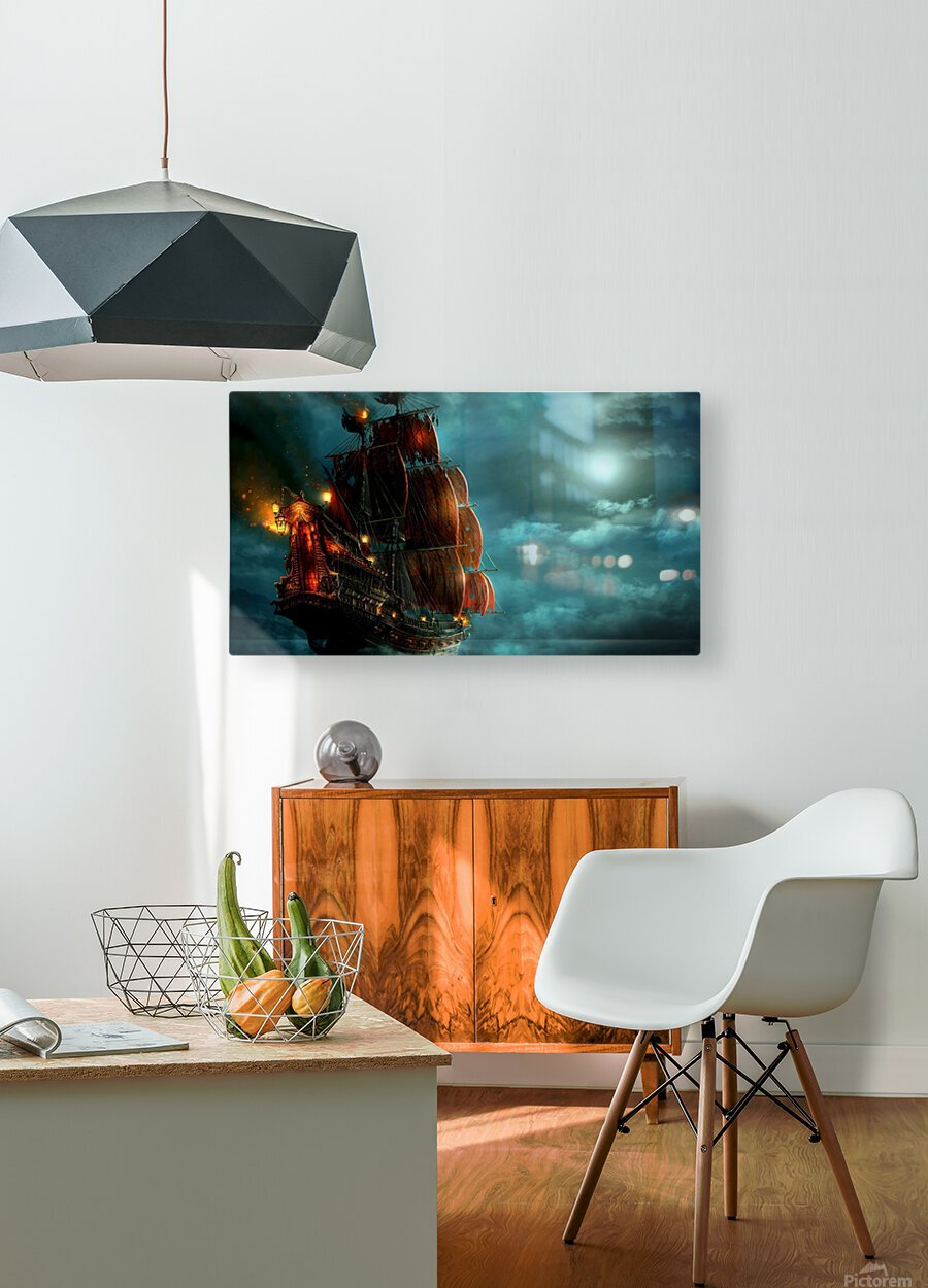 Pirate Ship   HD Metal print with Floating Frame on Back