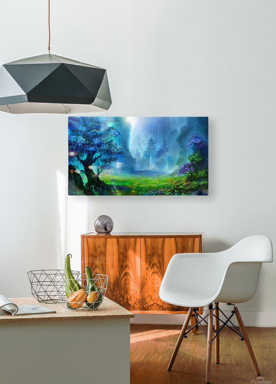 Blue Ravine  HD Metal print with Floating Frame on Back