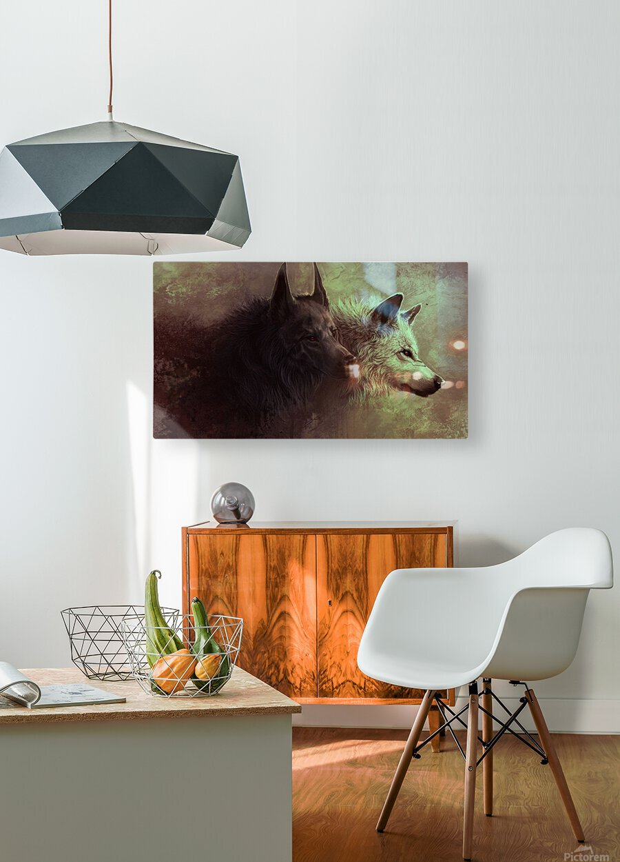 Call Of The Wild   HD Metal print with Floating Frame on Back