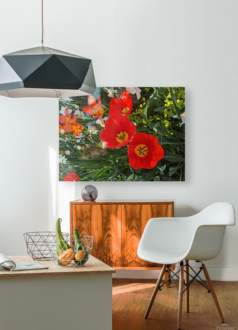 The Flower Family  HD Metal print with Floating Frame on Back