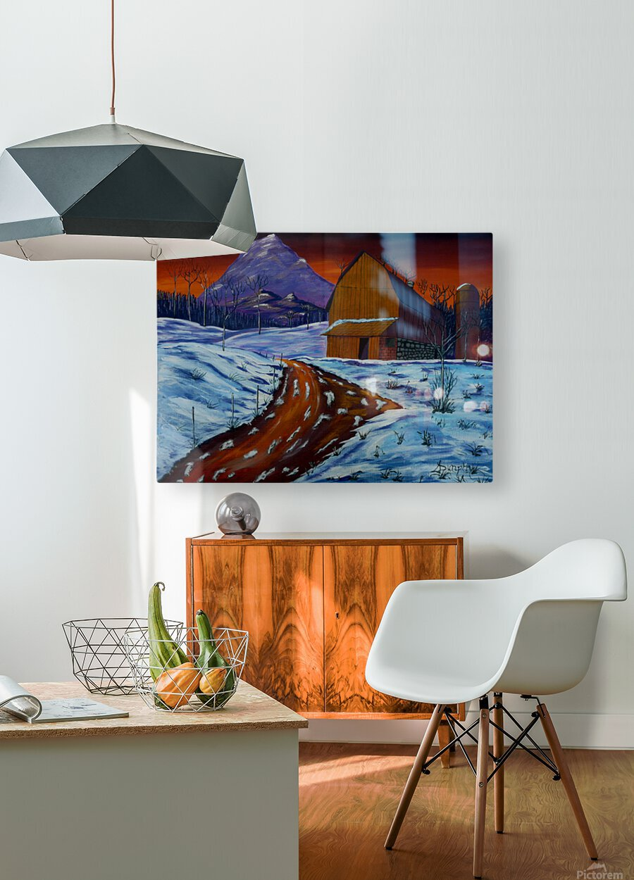 Country Dawn  HD Metal print with Floating Frame on Back
