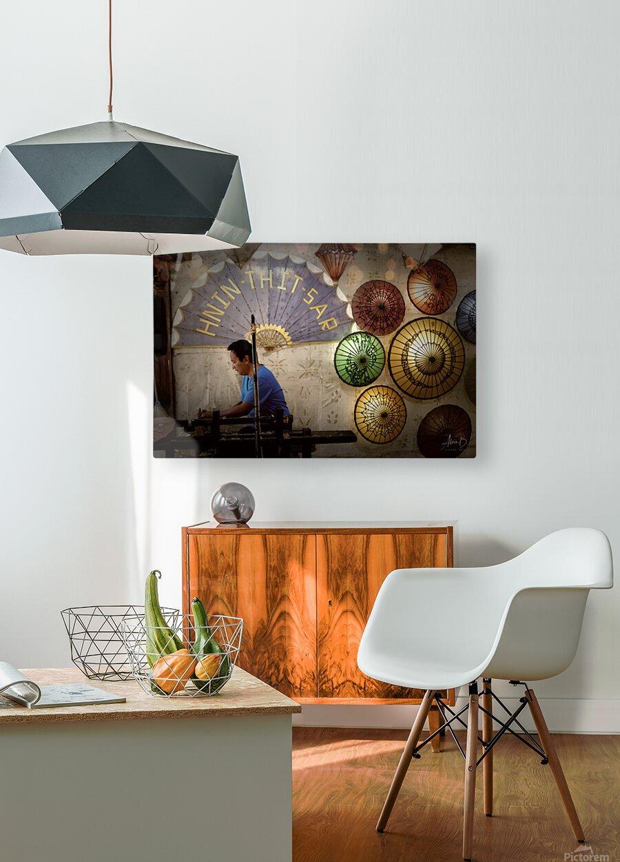 Umbrella maker  HD Metal print with Floating Frame on Back