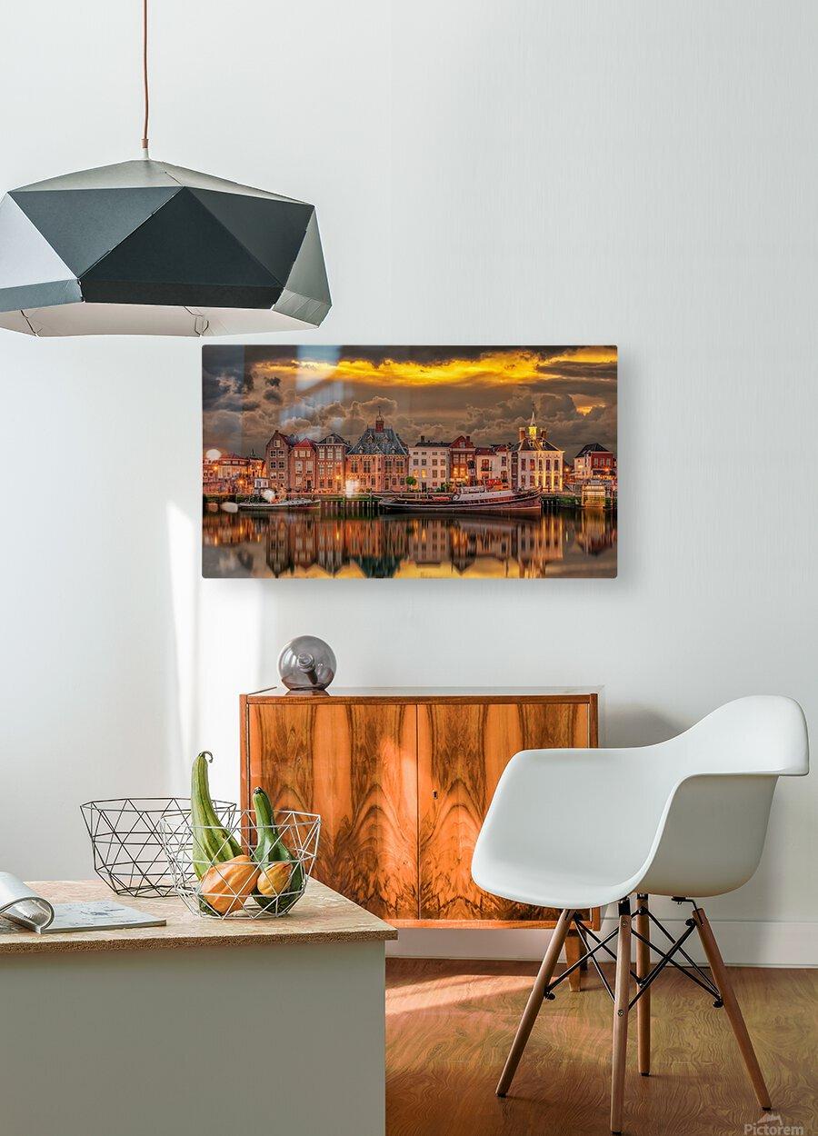 Old Port Of Maasslui    HD Metal print with Floating Frame on Back