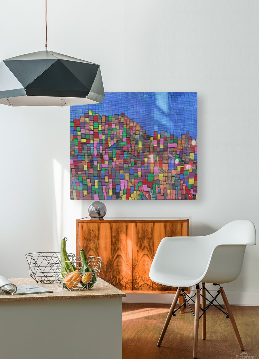 colorfulbuildings  HD Metal print with Floating Frame on Back