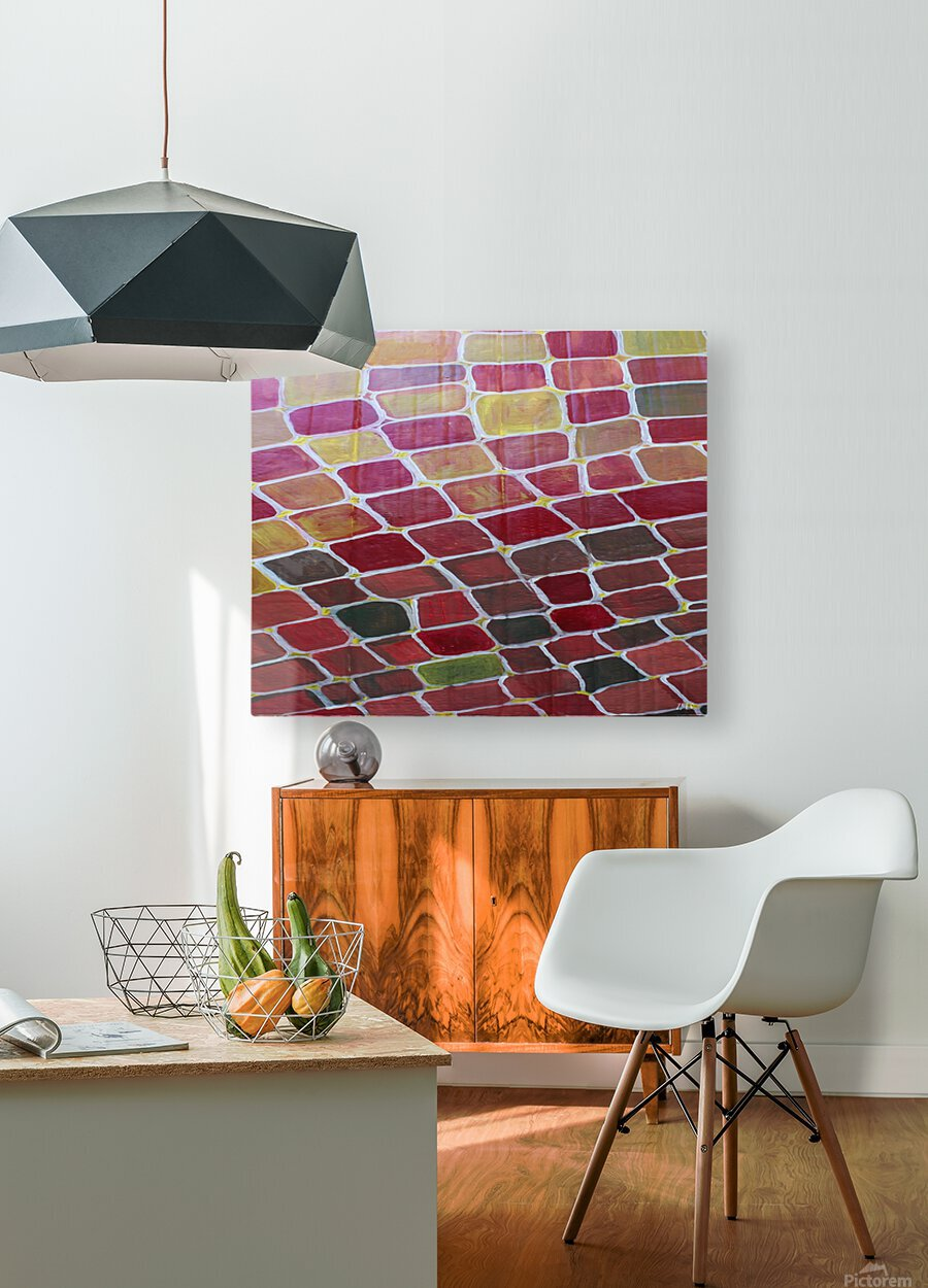 colorblocks  HD Metal print with Floating Frame on Back