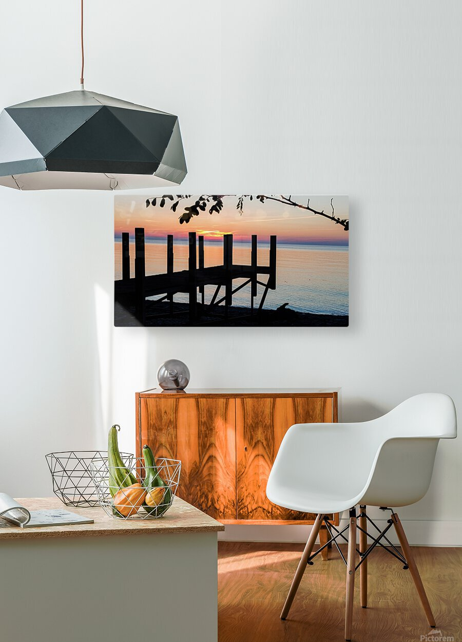Lake Erie Doc  HD Metal print with Floating Frame on Back