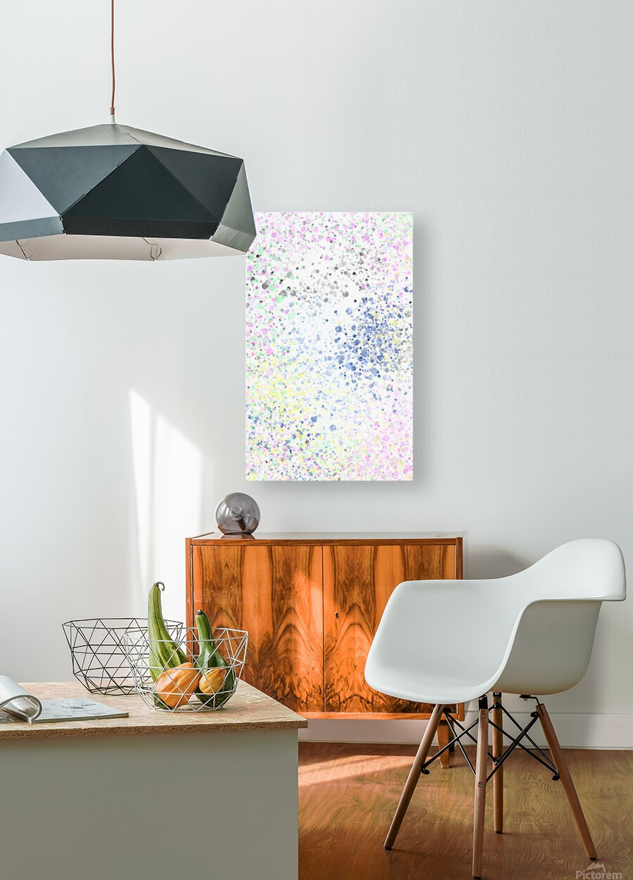 ABSTRACT PAINTING 40  HD Metal print with Floating Frame on Back