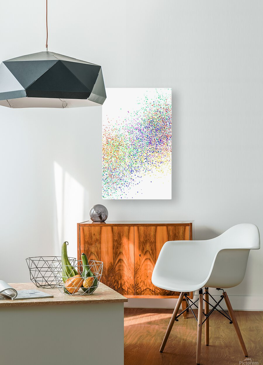ABSTRACT PAINTING 47  HD Metal print with Floating Frame on Back