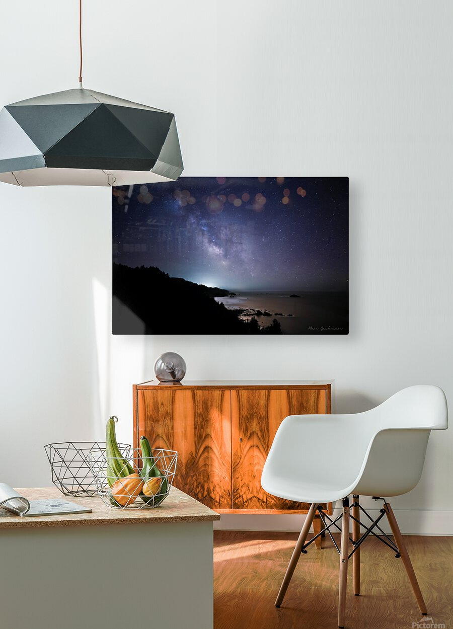 Midnight Horizons  HD Metal print with Floating Frame on Back