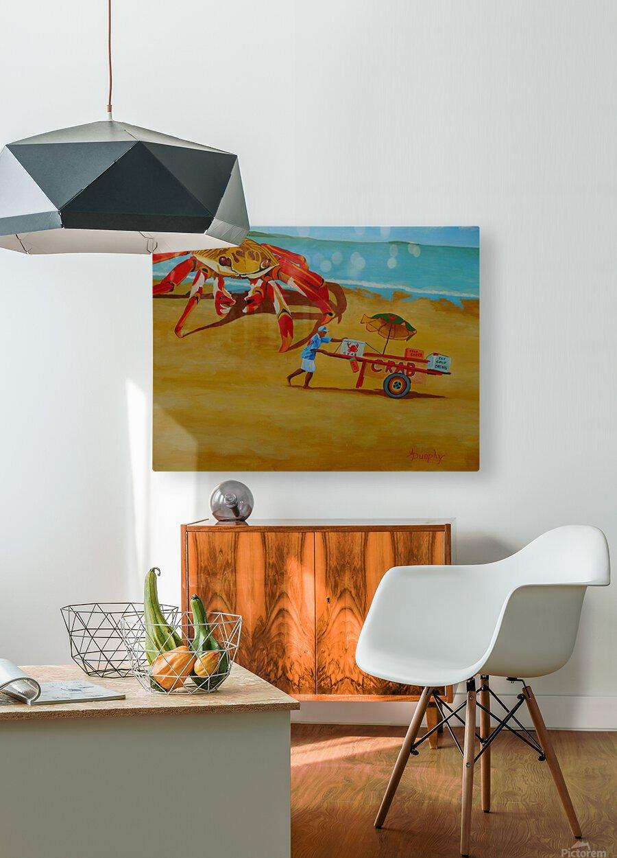 Crab Food Vendor  HD Metal print with Floating Frame on Back