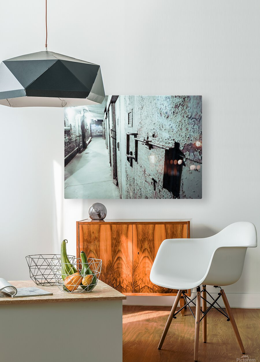 Solitary  HD Metal print with Floating Frame on Back
