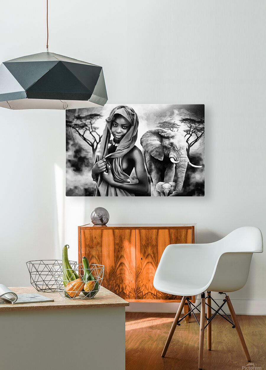 africa 2  HD Metal print with Floating Frame on Back