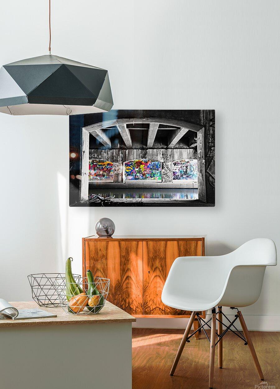 Graffiti Bridge  HD Metal print with Floating Frame on Back