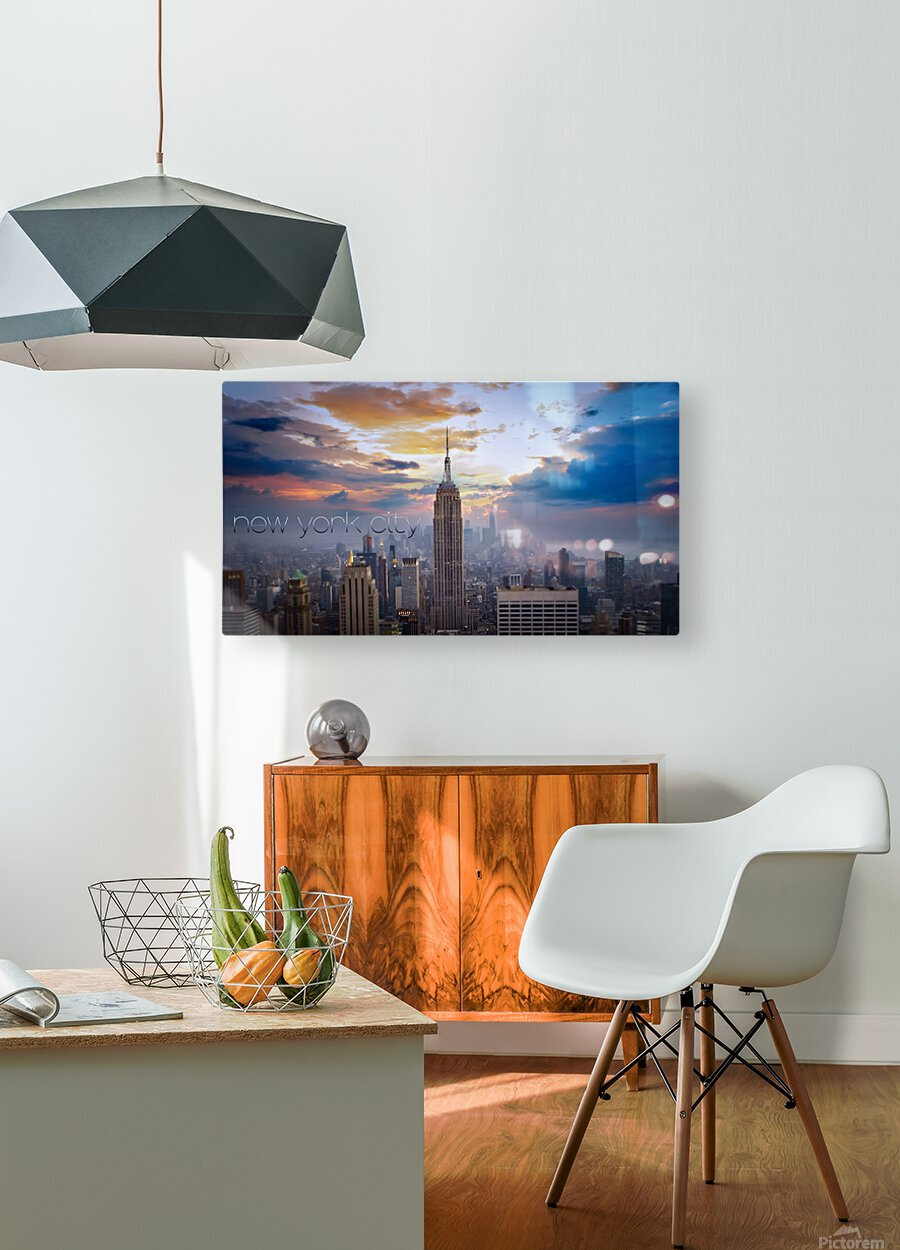 Empire  HD Metal print with Floating Frame on Back