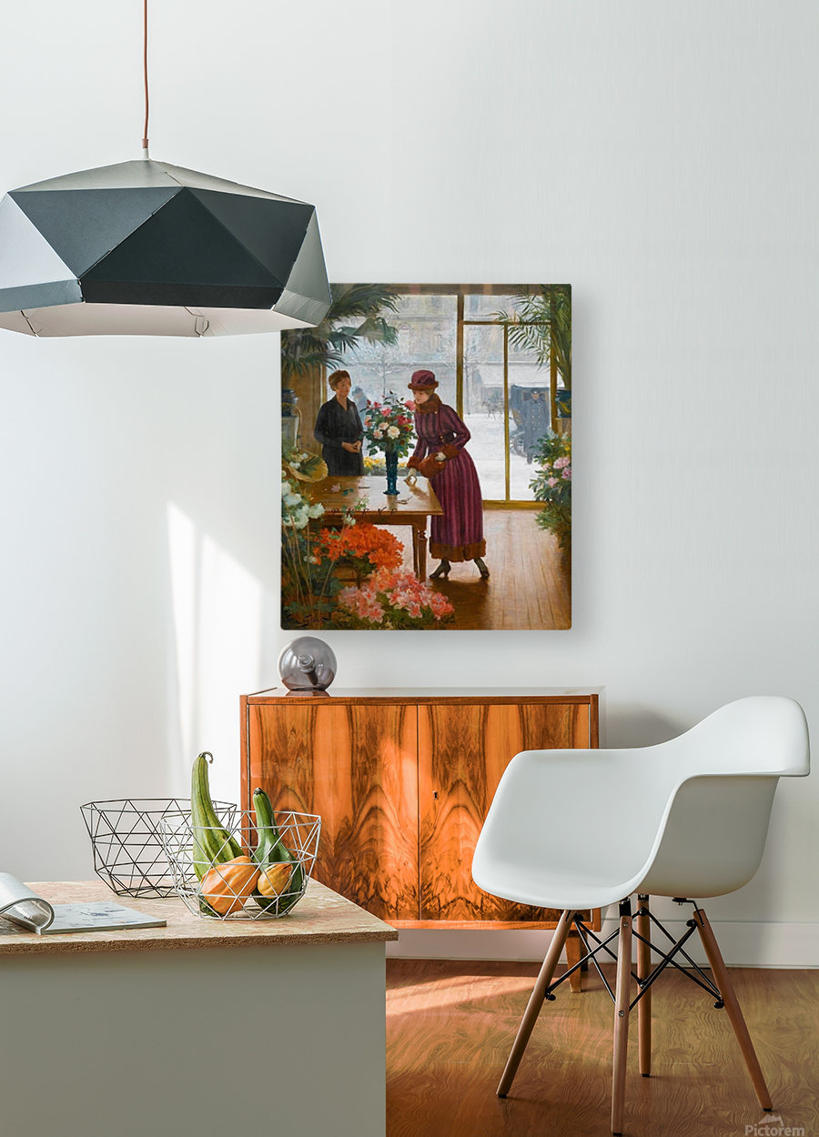 Florist  HD Metal print with Floating Frame on Back