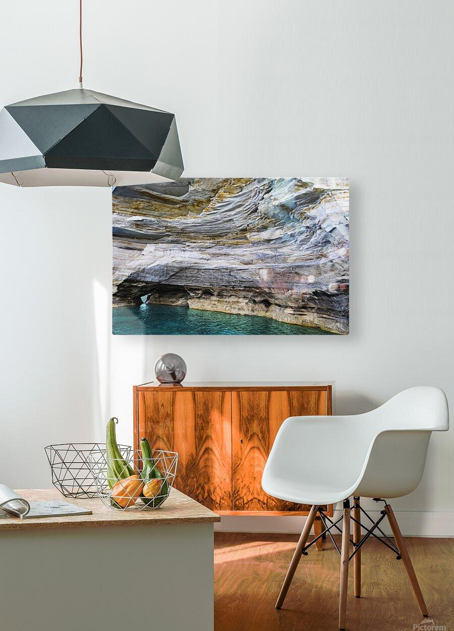 Vertical Vision  HD Metal print with Floating Frame on Back