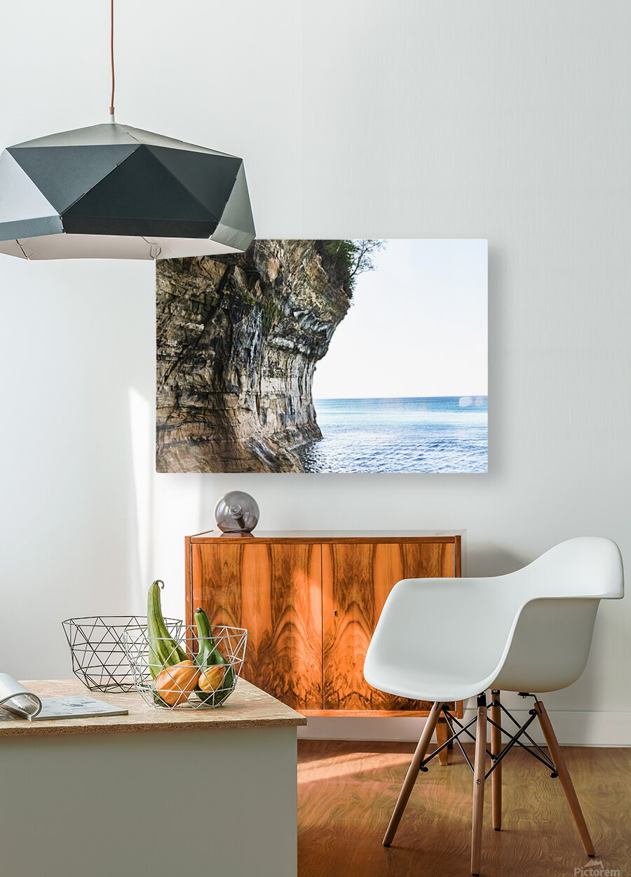 Land Meets Water  HD Metal print with Floating Frame on Back