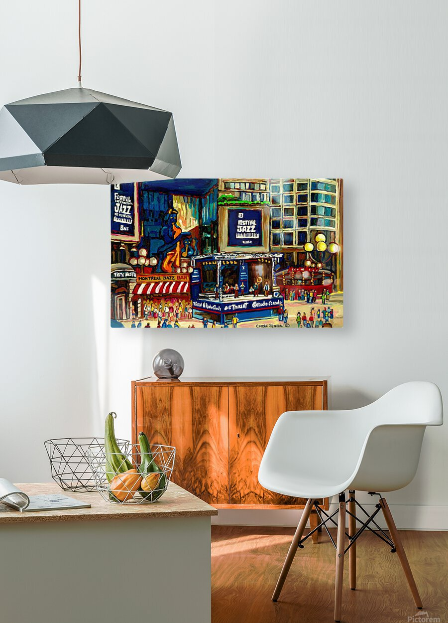 MONTREAL JAZZ FESTIVAL SUMMER EVENT  HD Metal print with Floating Frame on Back