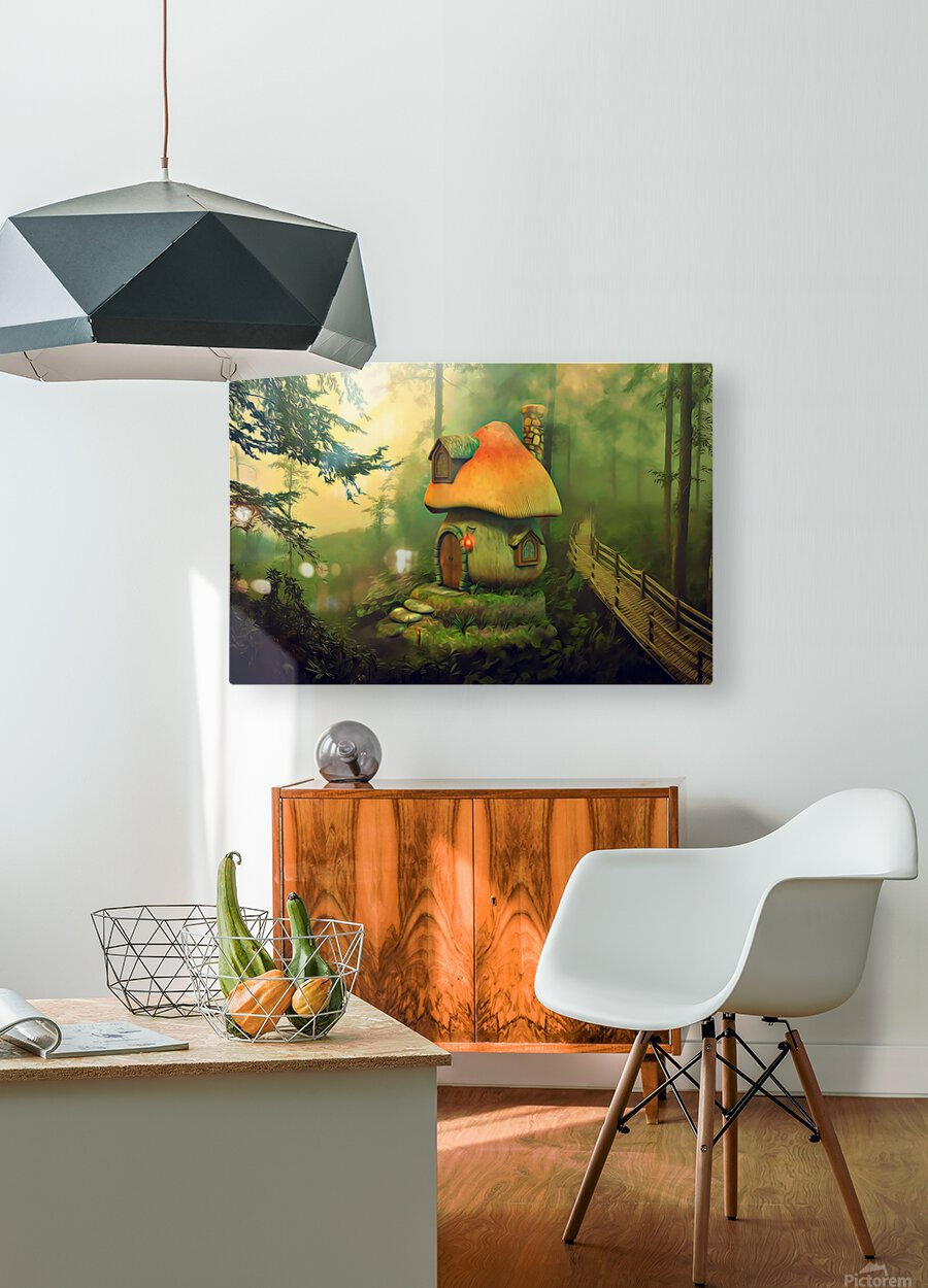 Mushroom Cottage  HD Metal print with Floating Frame on Back