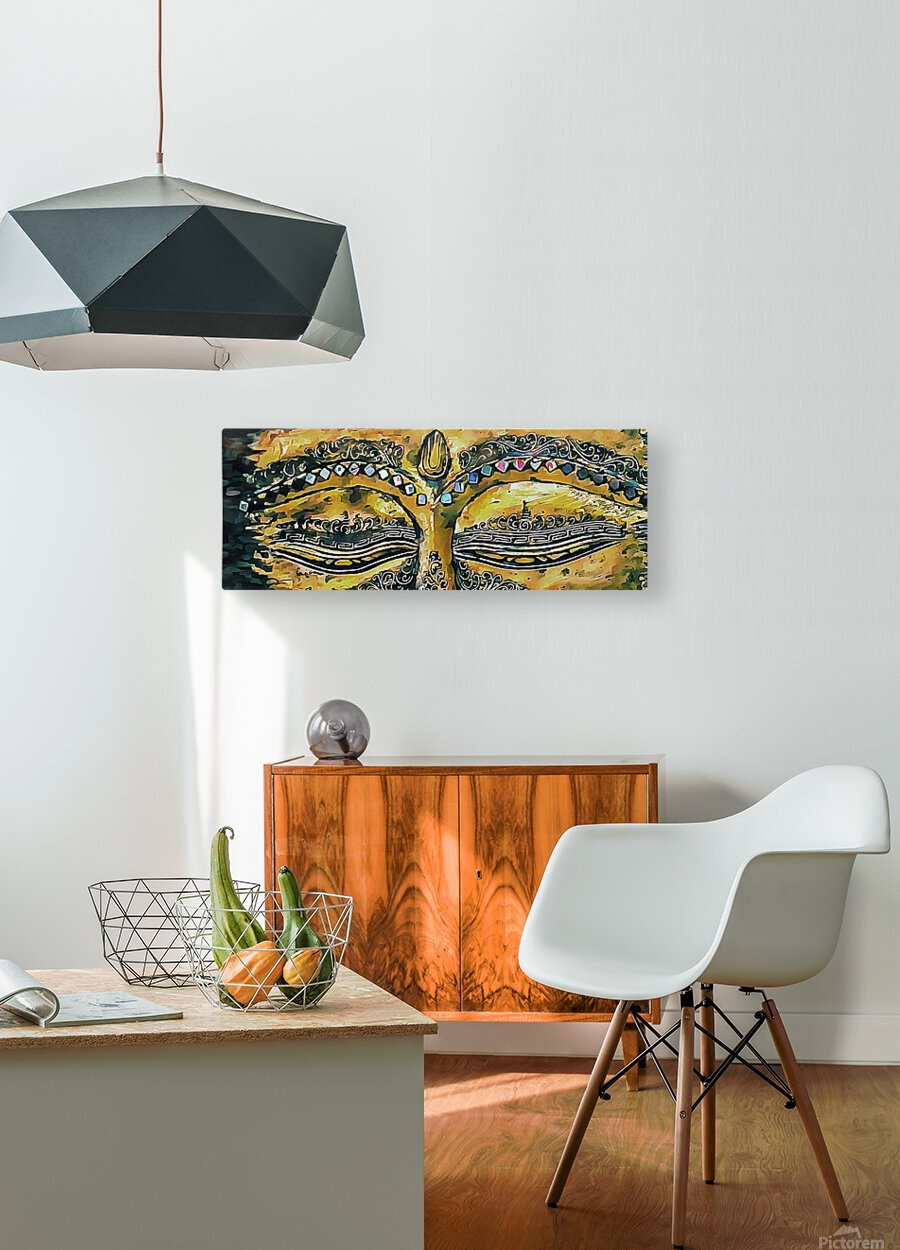 Eyes of Buddha  HD Metal print with Floating Frame on Back