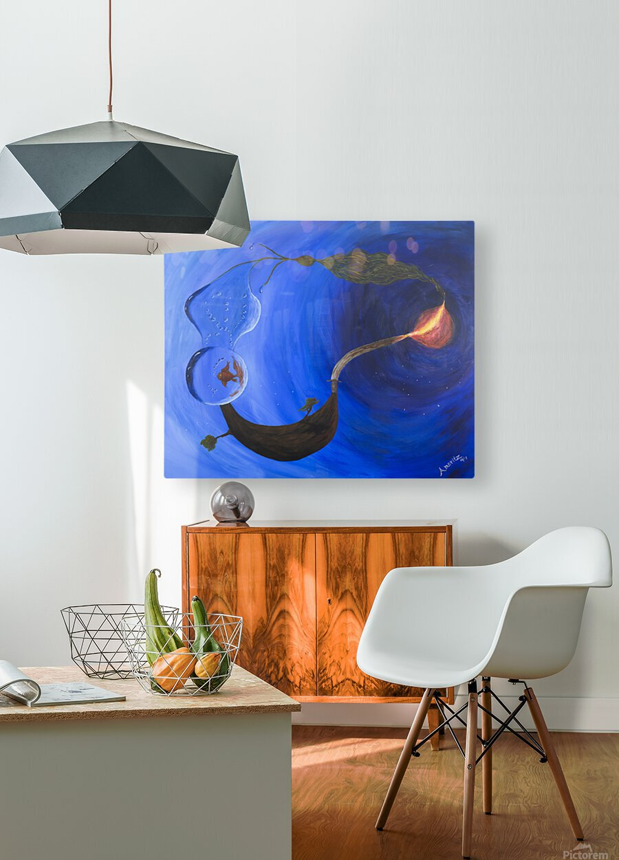 Element Harmony  HD Metal print with Floating Frame on Back