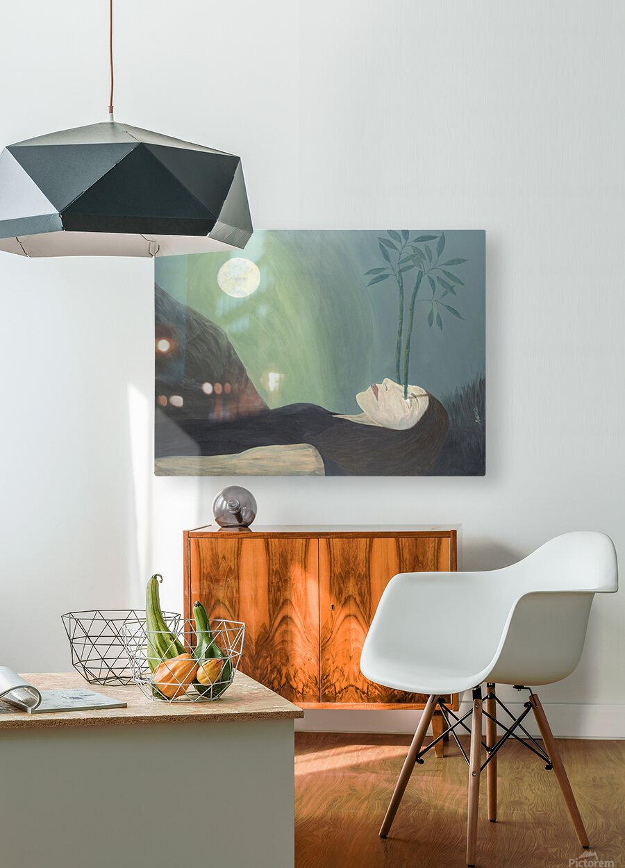 High Perspective Growth  HD Metal print with Floating Frame on Back