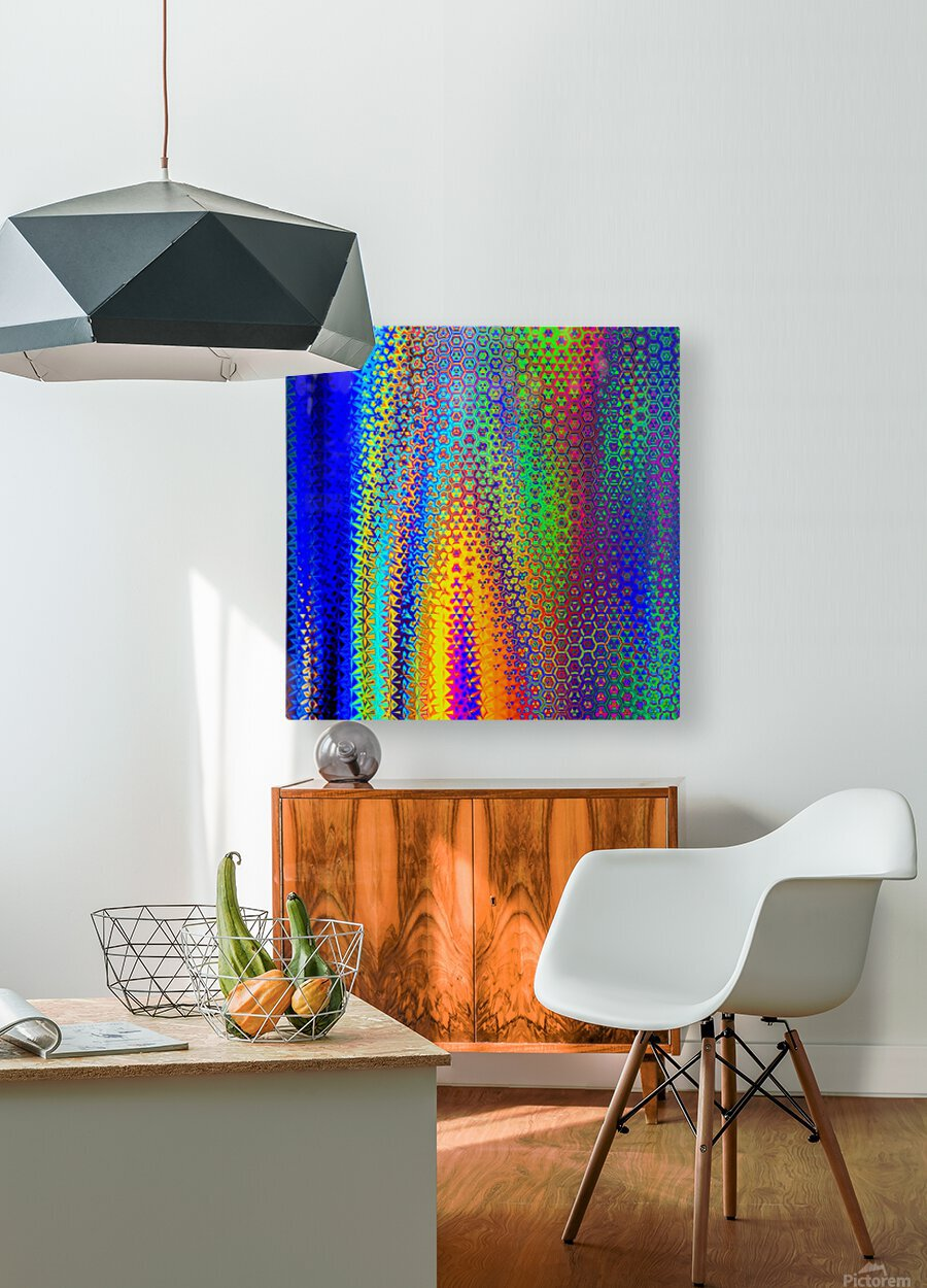 psychedelic wave  HD Metal print with Floating Frame on Back