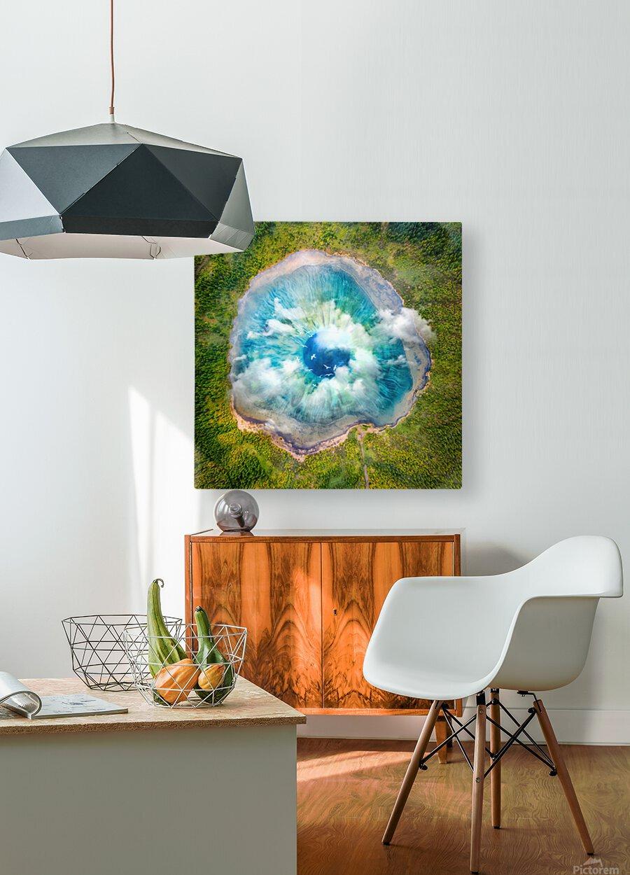 Dream Art XIX Surreal Eye Lake  HD Metal print with Floating Frame on Back