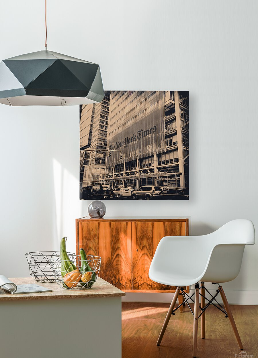 New York Times  HD Metal print with Floating Frame on Back