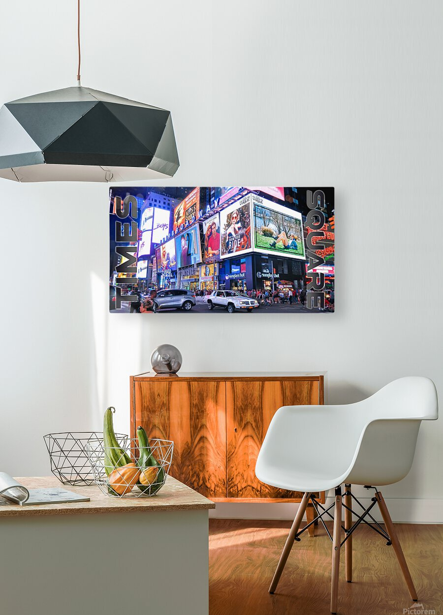 Times Square   HD Metal print with Floating Frame on Back